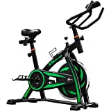 LIFE CARVER BTM Indoor Cycling Exercise Bike Spin Bike Studio Cycles Exercise Machines Adjustable Handlebars & Seat On Board Computer Reads Speed, Distance, Time, Calories + Pulse