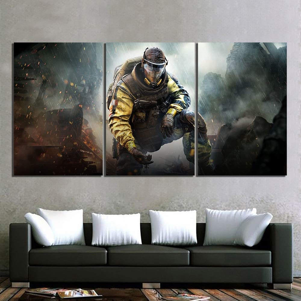 canvas prints Canvas Painting Prints Home Decoration 3 Pcs Shooting Game Wall Artwork Modular Pictures Posters
