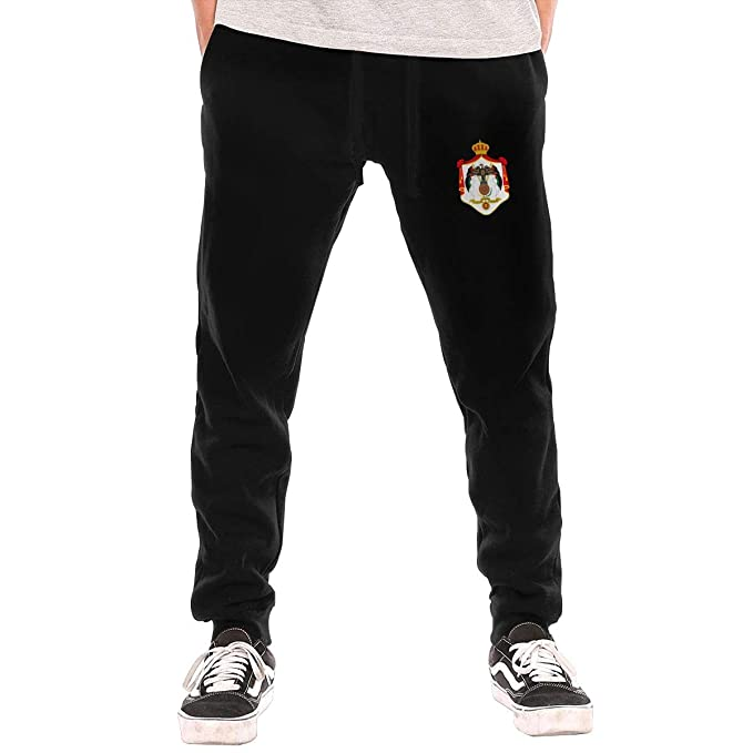 5e3693c2e1681 Amazon.com: Coat of Arms of Jordan Sweatpants Long Cotton Casual ...