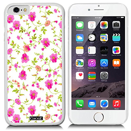 CocoZ® New Apple Iphone 6 s 4.7-inch Case Beautiful flowers PC Material Case (White PC & flowers - Bill Bass Glasses