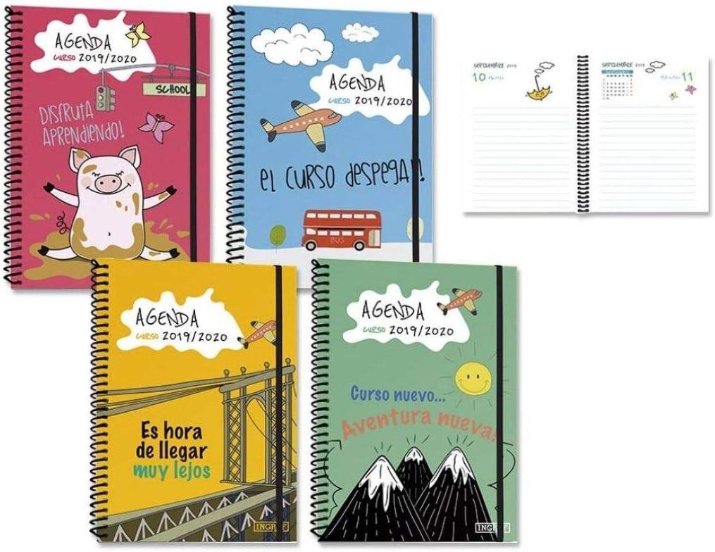 Agenda Escolar 19-20 1/8 1 Dia Por Pagina Comics Surtido A Elegir ...