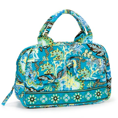 Satchel Style Quilted Handbag – Bright Paisley Floral Pattern, Bags Central