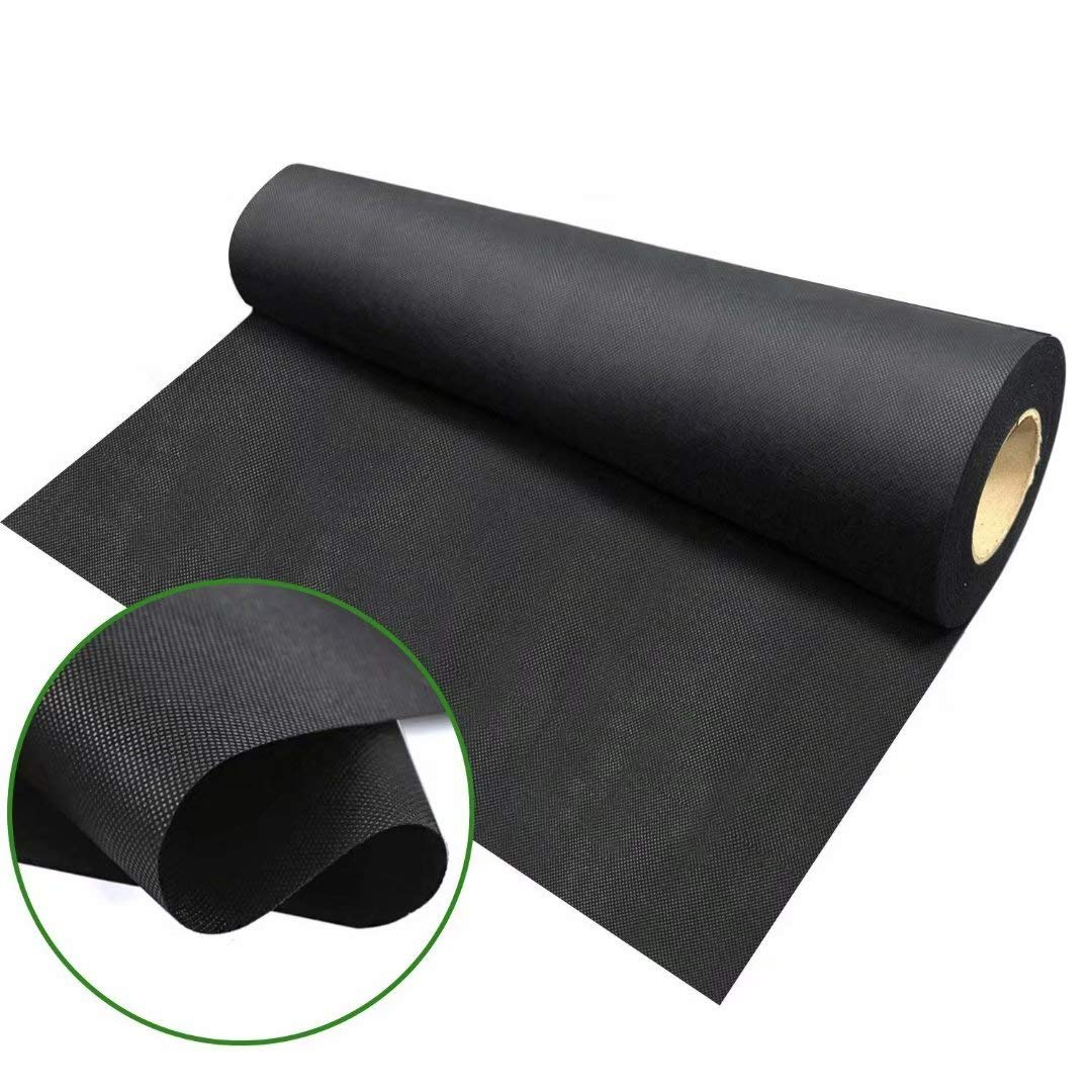 Agfabric Landscape WB23-4x300ft Ground Cover Heacy Non-Woven Weed Barrier Fabric for Gardening Mat and Raised Bed, Weed Control