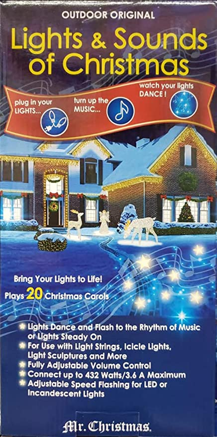 Image Unavailable. Image not available for. Color: Mr. Christmas Outdoor  Original Lights & Sounds Christmas - Amazon.com: Mr. Christmas Outdoor Original Lights & Sounds Christmas