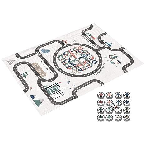 blanco impermeable 200x180 cm Alfombra de juego infantil Juego Alfombra XXXL para Jugar al Suelo para Beb/és Ni/ños Peque/ños