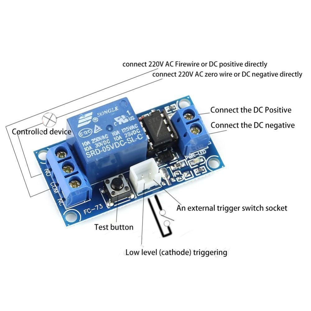 Hiletgo 5v 1 Channel Latching Relay Module With Touch Ac Switch Price Bistable Mcu Control Office Products
