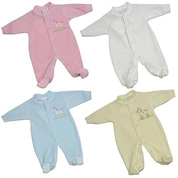 Premature Early Baby Clothes - Velour Sleepsuit - 3.5 - 10lb - Blue ... f23a1443d25d