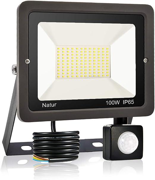 100W Foco LED con Sensor de Movimiento, Proyector Led Exterior ...