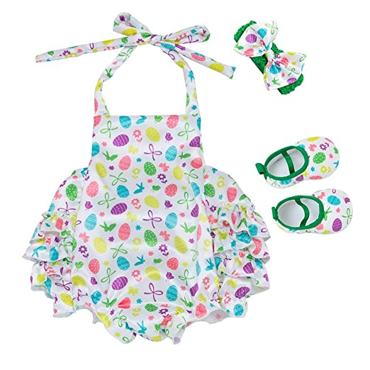 1e293cc0fe5d Amazon.com  Sagton Toddler Baby Cartoon Print Romper Bodysuit ...
