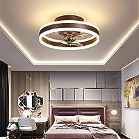 XIAOL Moderne led-plafondventilator met verlichting, schakelbare ventilator, dimbare plafondlamp met afstandsbediening…