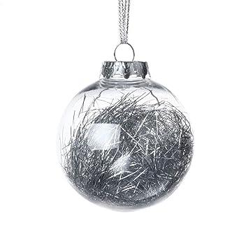 Christbaumkugeln Anhänger.Feiliandajj 8cm Deko Anhänger Transparent Weihnachten Kugel