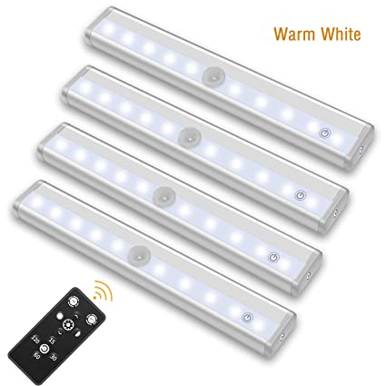 Upgraded Remote Control LED Lights Bar With Timer, Wireless Portable LED Under  Cabinet Lighting,