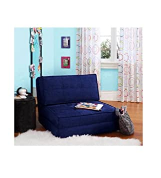 Incredible Your Zone Flip Chair Chair Easily Converts Into A Bed Ultra Suede Material 1 Blue Sapphire Gmtry Best Dining Table And Chair Ideas Images Gmtryco