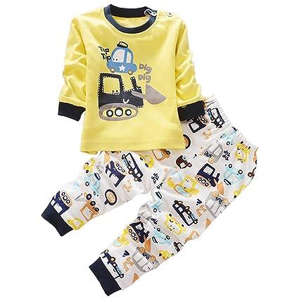 XFentech Lindo Animal Impresión Pijamas Set Para Unisexo Niño Minions Pijama para Niños