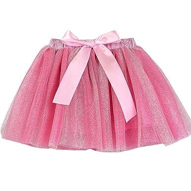 PinkLu Verano Niña Rosa Amarillo Tutu Punto Flash Falda Corta ...