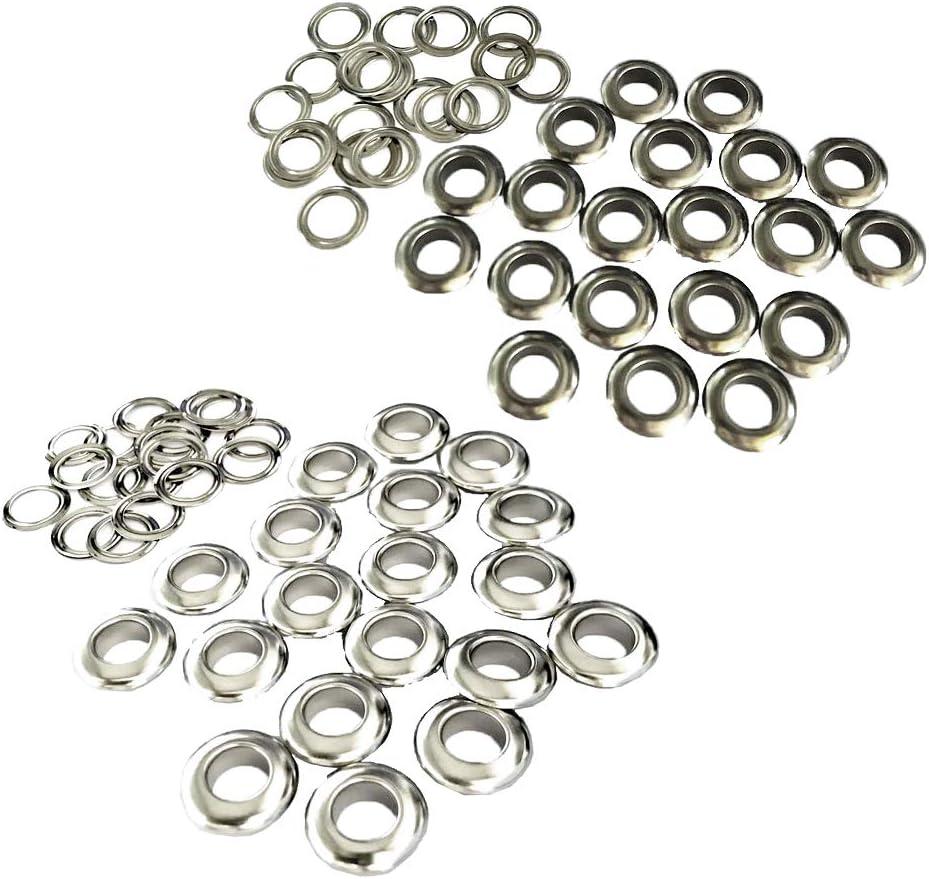 F Fityle 60 Juegos de Ojales de Metal para Manualidades de Costura de 10 Mm