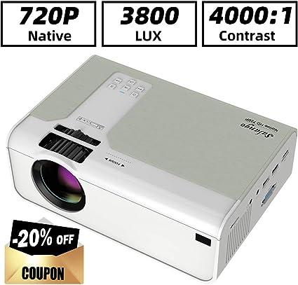 Mini proyector HD, SALANGE 2020 Proyectores de película portátil ...