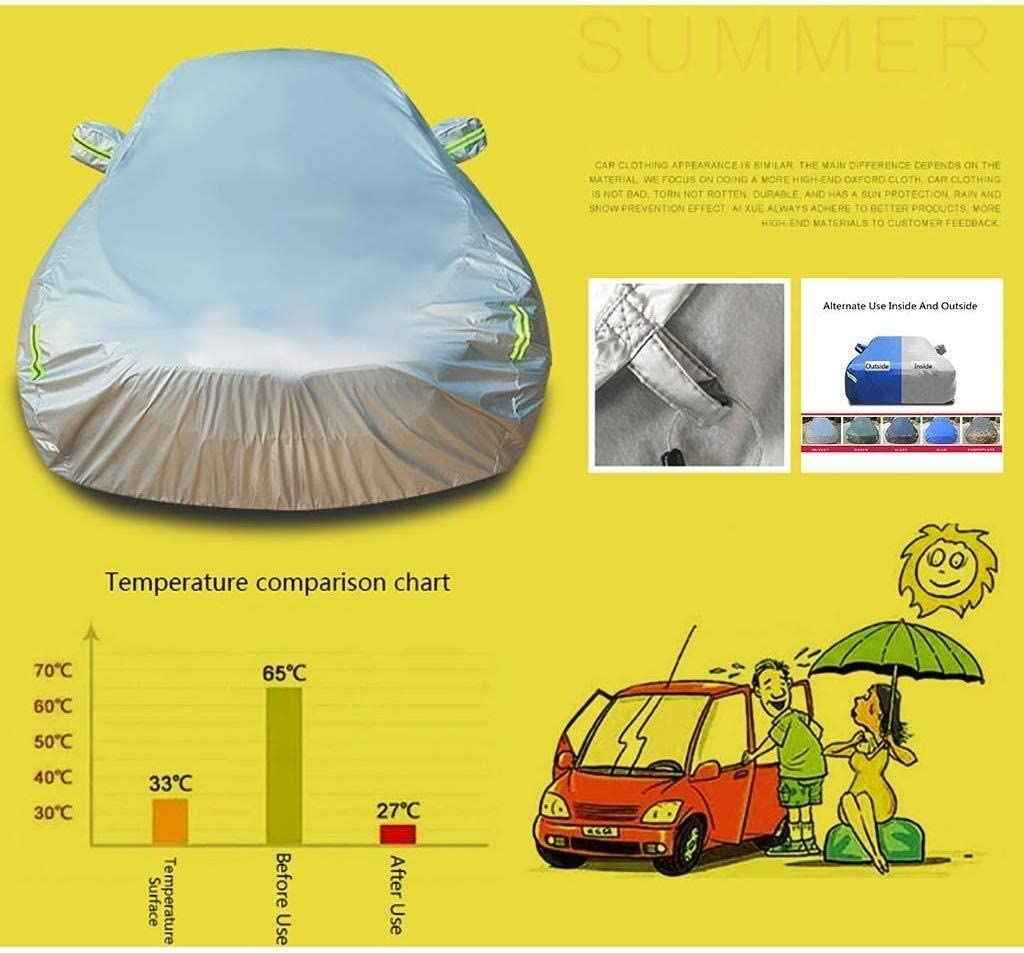 Preventing All-weather Breathable Waterproof Dustproof And UV-resistant Polyester Fabric Car Cover Car Cover LXJJGF, Compatible With Ford 0.5 Ton Pickup 1932 1933 1934 1935 1936 Car Protection Cover