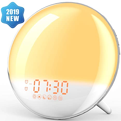 Image result for XIRON Light Alarm Clock with Sunrise/Sunset Simulation