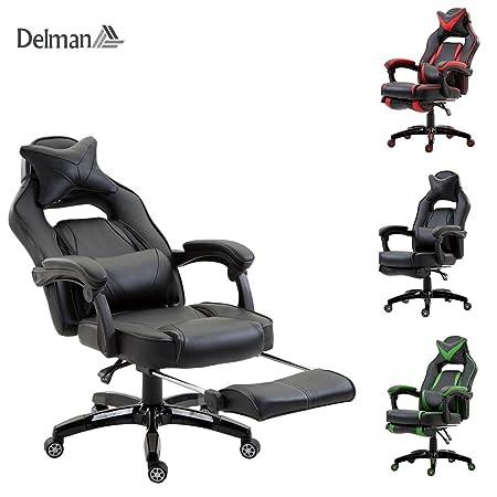Delman Xxl Racing Burostuhl Schreibtischstuhl Gaming Chair Drehstuhl