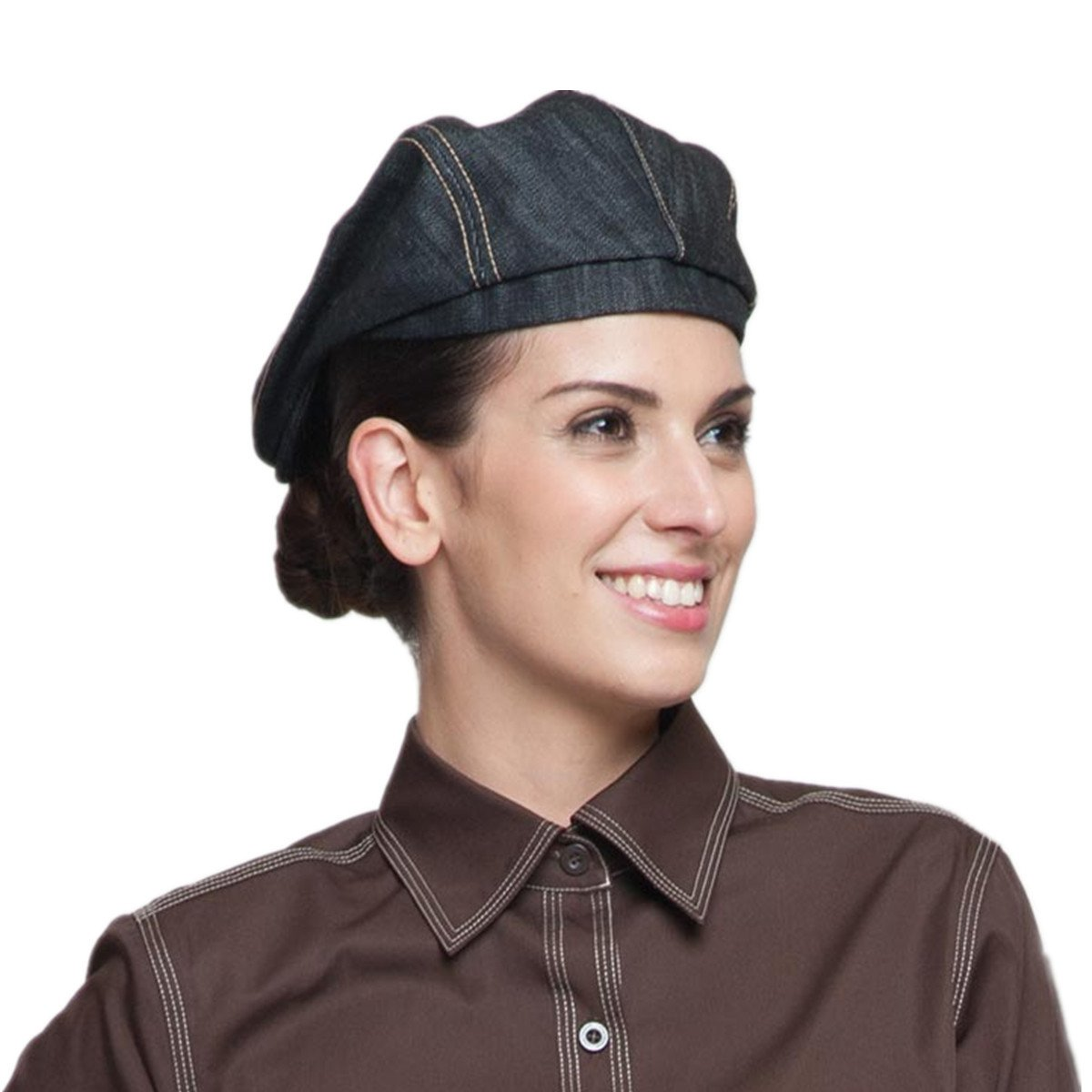 XINFU Chef Hat Cowboy Hotel Hat Waiter Hat Hotel Cafe Working Cap Beret Baseball Cap