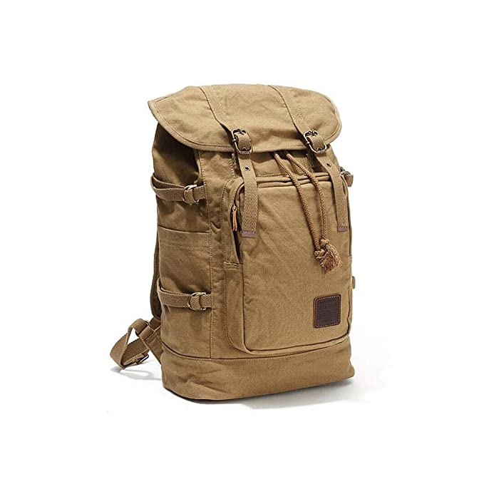 363ab93a5470 Amazon.com: ZHJWHWABBAO Backpack Men's Retro Leisure Travel Bag ...