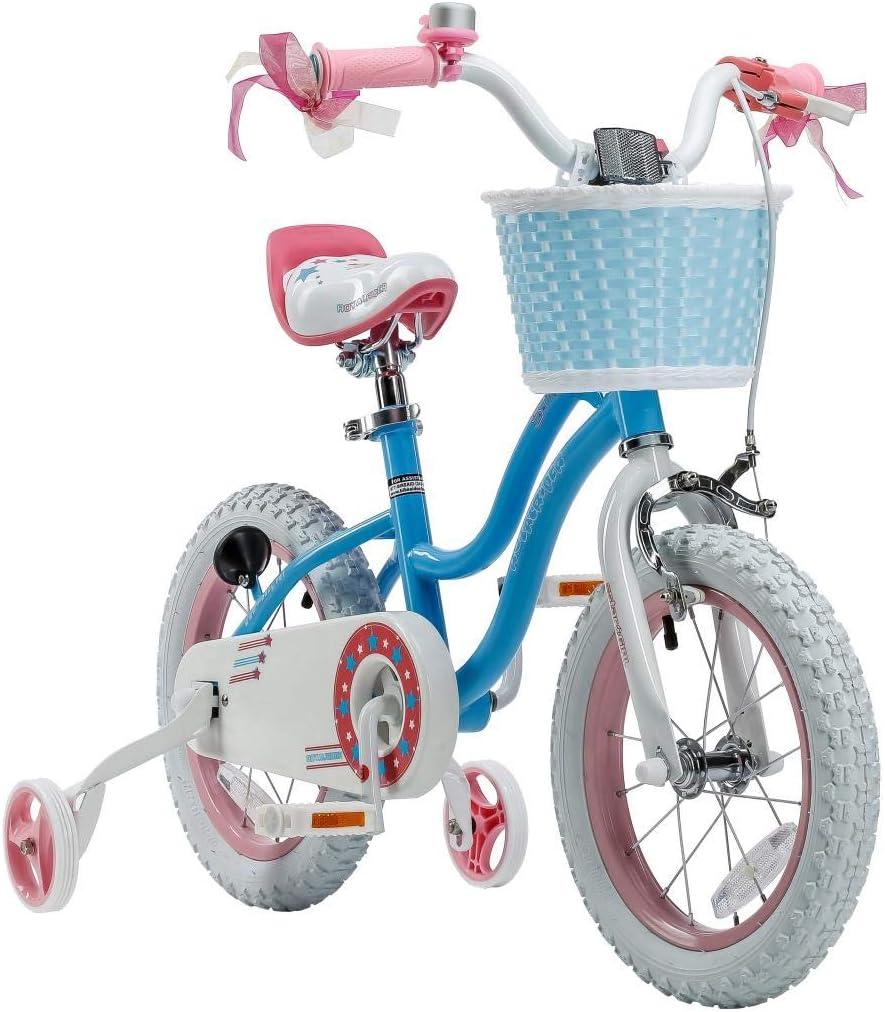 RoyablBaby Stargirl Girl s Bike with Training Wheels or Kickstand
