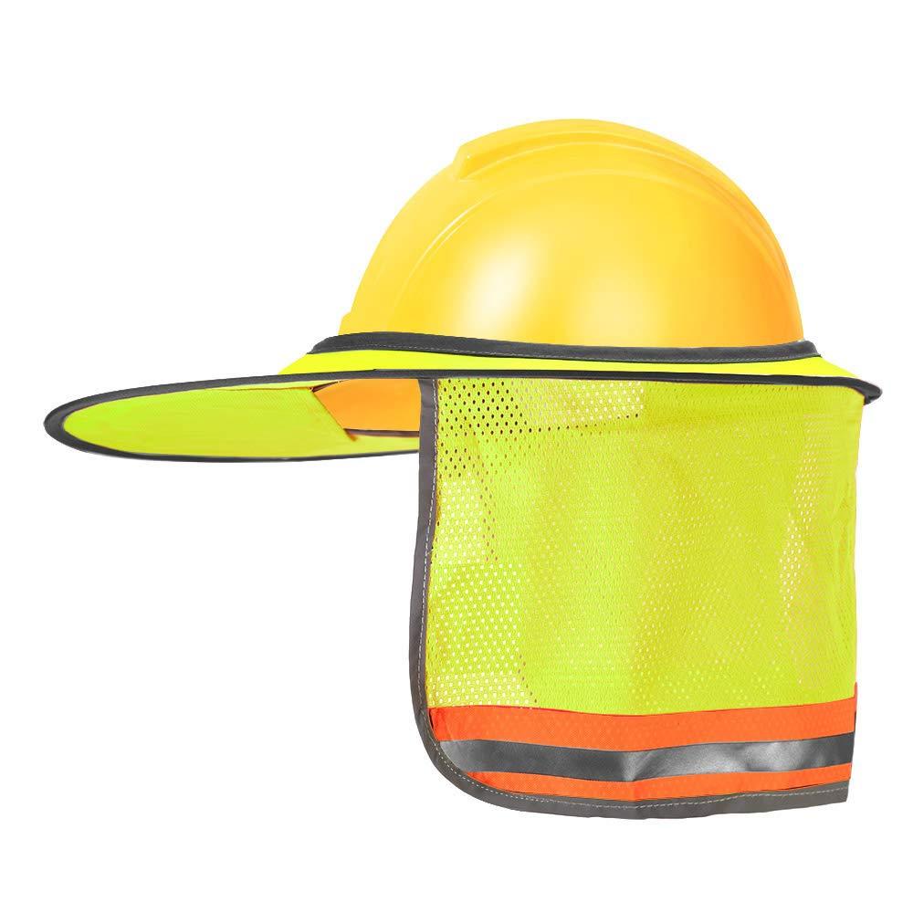 21705ccb9ed49 2 Pack Hard Hat Sun Shield Full Brim Mesh Neck Sunshade For Hardhats