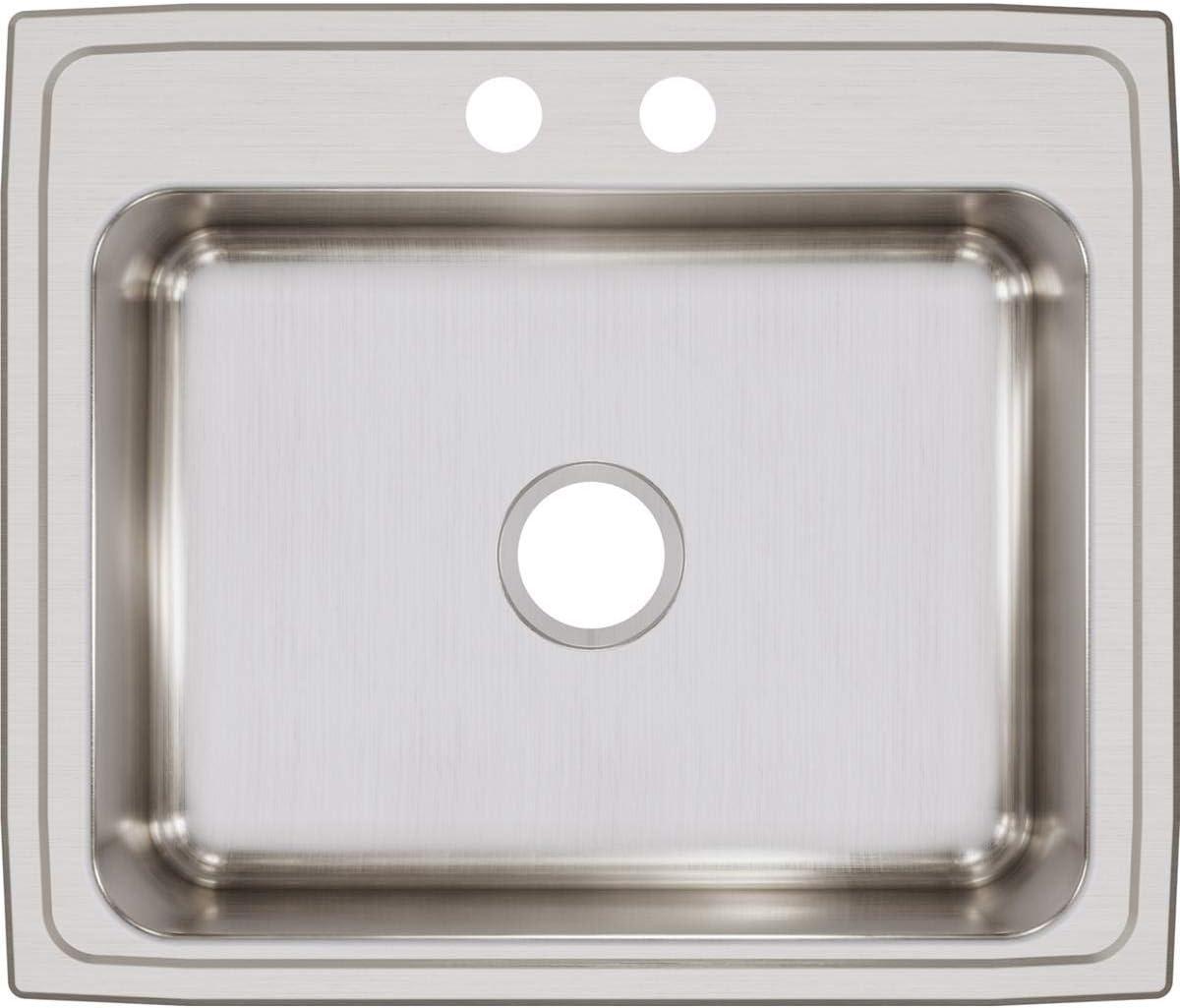 Elkay Lustertone LR25212 Single Bowl Top Mount Stainless Steel Sink