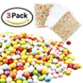 GeMoor Mini Styrofoam Balls for Slime, Colorful Small Foam Balls Filler Beads for DIY Creative Crafts Decorations, White and Mixed Color, 3 Pack
