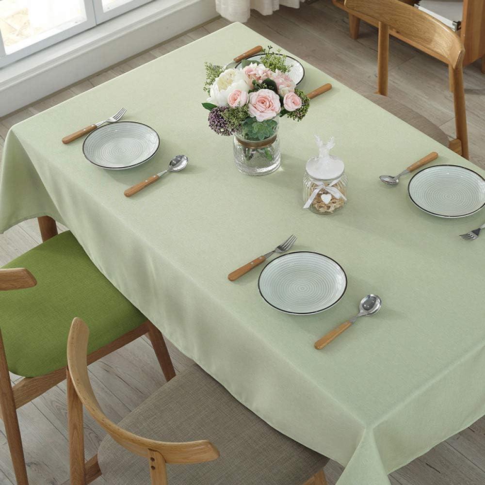DJUX mantel de algodón lino estilo pequeño fresco color sólido mantel mesa de café