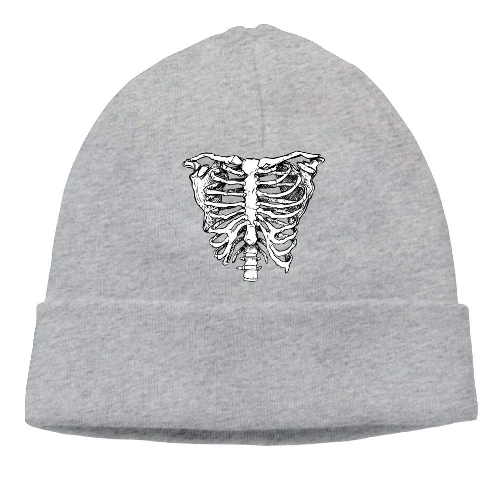 Oopp Jfhg White Creepy Rib Beanies Knit Hats Skull Caps Mens