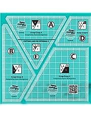 Creative Quilting Cutting Template, Grids Crazier Eights Template, Scrap Crazy 6 Templates Quilt Ruler, Free Motion Quilting Template Arts Crafts, 5pcs Set Quilt Ruler Set