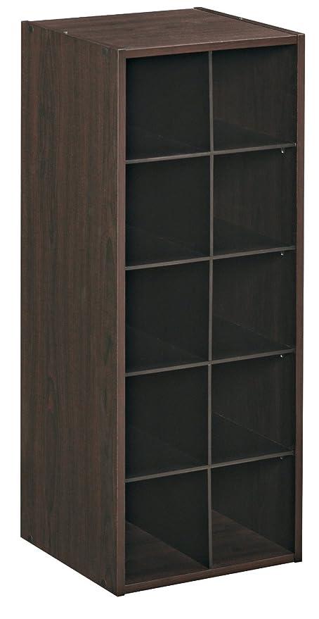 Amazon Com Closetmaid 1546 Stackable 10 Cube Organizer Espresso
