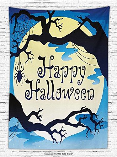 Halloween Decorations Fleece Throw Blanket &quotHappy Halloween