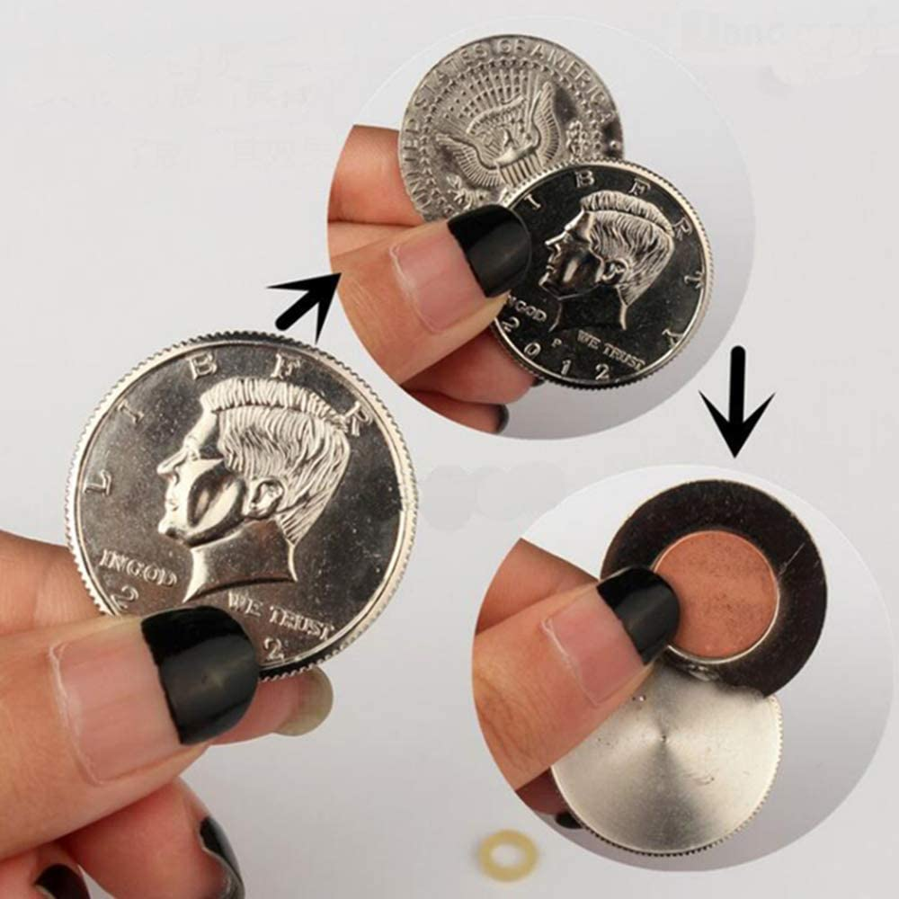 Coins Self Working Moving Magic Trick Party Show Magician illusionist Props