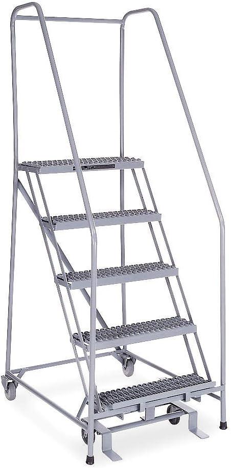 Cotterman 1005R2630A3E10B4SSP6 - Escalera de 5 peldaños, punta de paso serrada, altura total de 80 kg, Capacidad de carga: Amazon.es: Bricolaje y herramientas