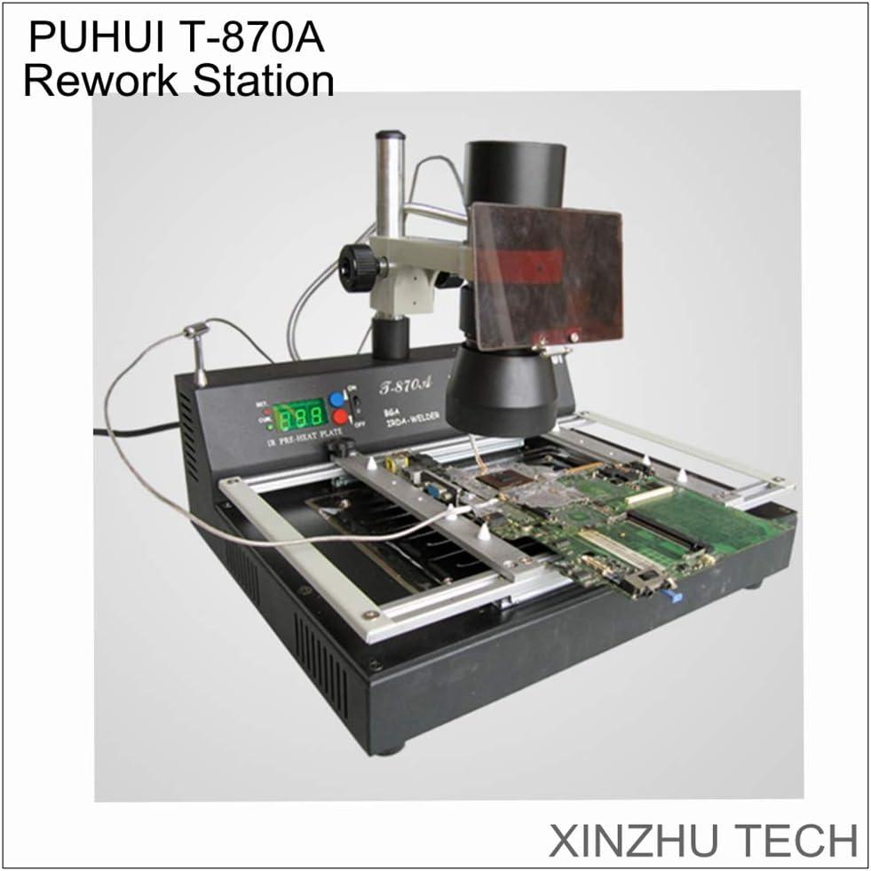 T-870A IR BGA Rework Station Infrared SMD Soldering Desoldering Station 1000W US