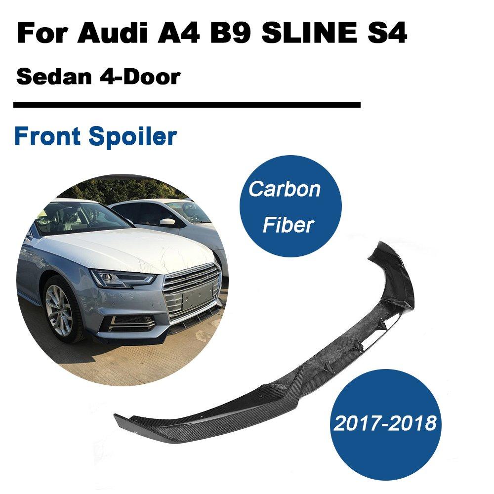 TGFOF de fibra de carbono parachoques delantero Spoiler Labio Barbilla para A4 S línea 2017/S4 2017 2018: Amazon.es: Coche y moto