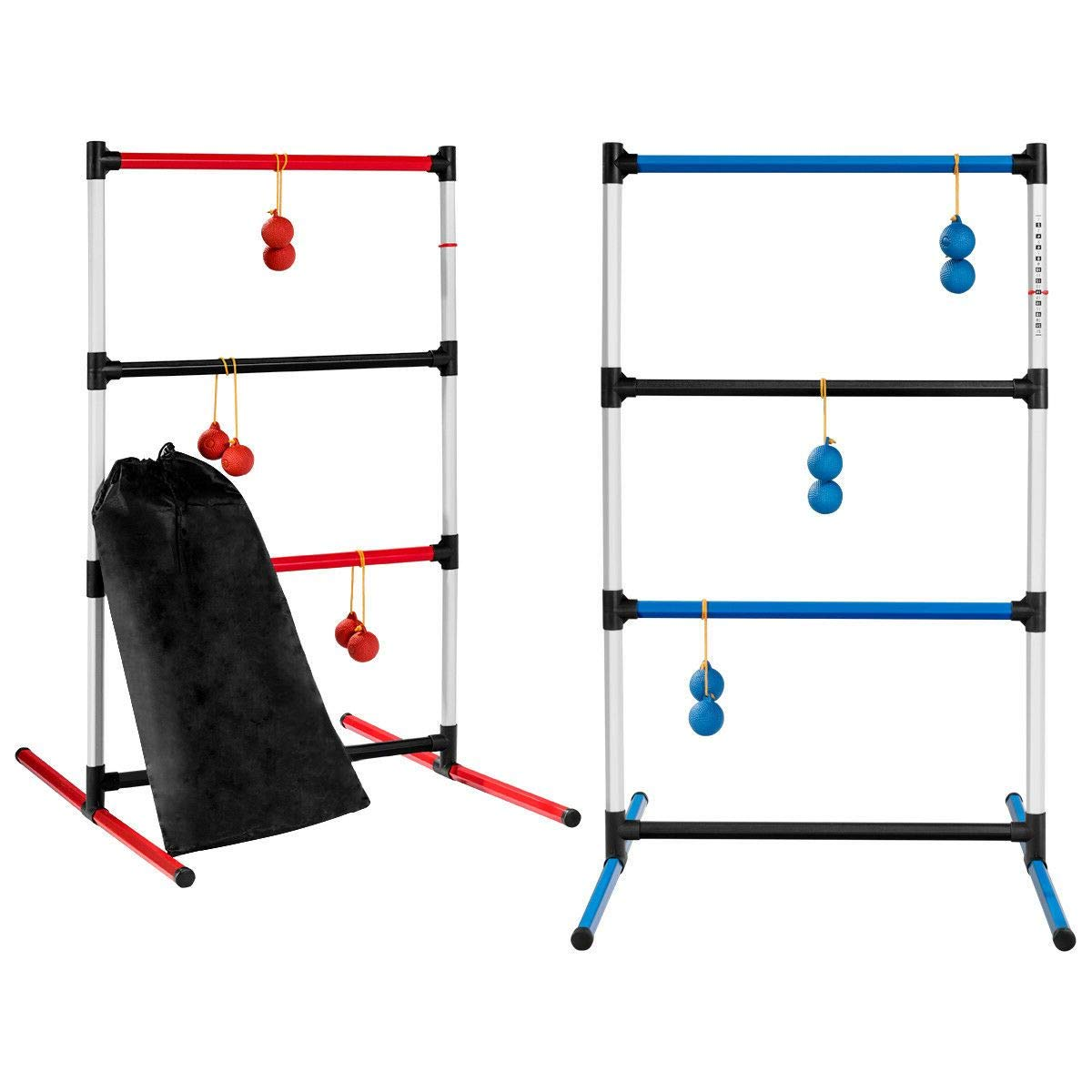 Aromzen Portable Ladder Ball Family Indoor Outdoor Game Sport 12 Balls W/Bag