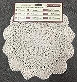 """Creative Linens 6PCS 10"""" Round Crochet Lace Doily"""
