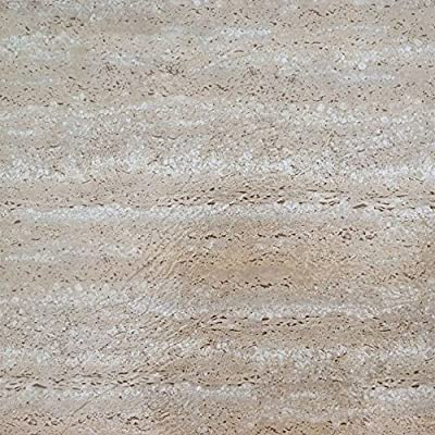 Achim Imports FTVMA42545 Tivoli Travatine Marble 12x12 Self Adhesive Vinyl Floor Tiles/45 Sq Ft, Piece