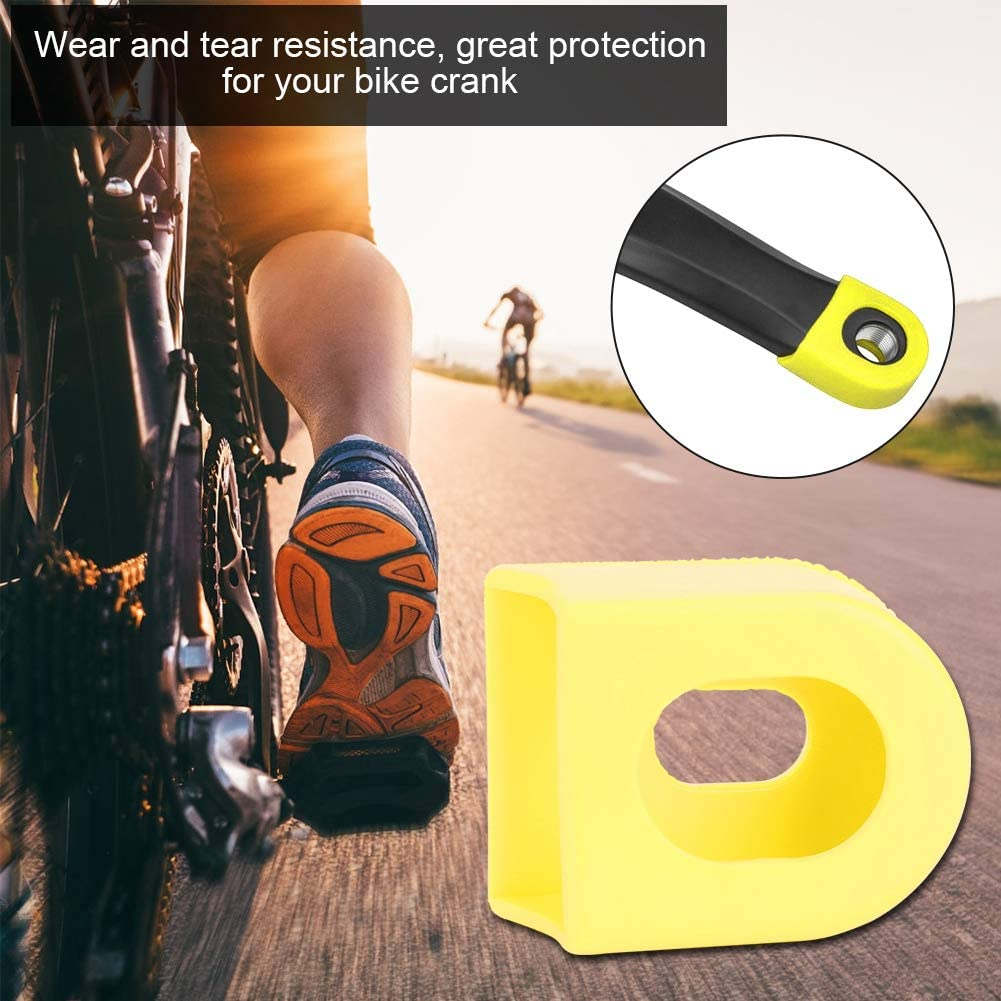 5PCS Bike Crank Protector Rubber Sleeve Arm Boots Protector Bicycle Protective Cover Boots