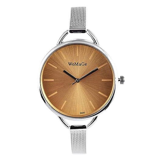 357717a49 Image Unavailable. Image not available for. Color: Women Fashion Alloy Band  Round Analog Quartz Wrist Watch Bracelet Bangle