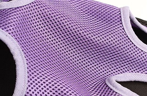 Mkono Fashion Portable Soft Pet Legs Head Out Travel Front Backpack Carrier Bag Case For Pet Dog Puppy Cat,Purple by Mkono (Image #2)
