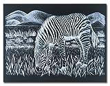 Melissa & Doug Scratch Art Scratchboard - 10-Pack, Shimmering Silver on Black Background