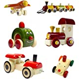 Set of 6 Colorful Wooden cars and Baby toys: Model OW-OW001