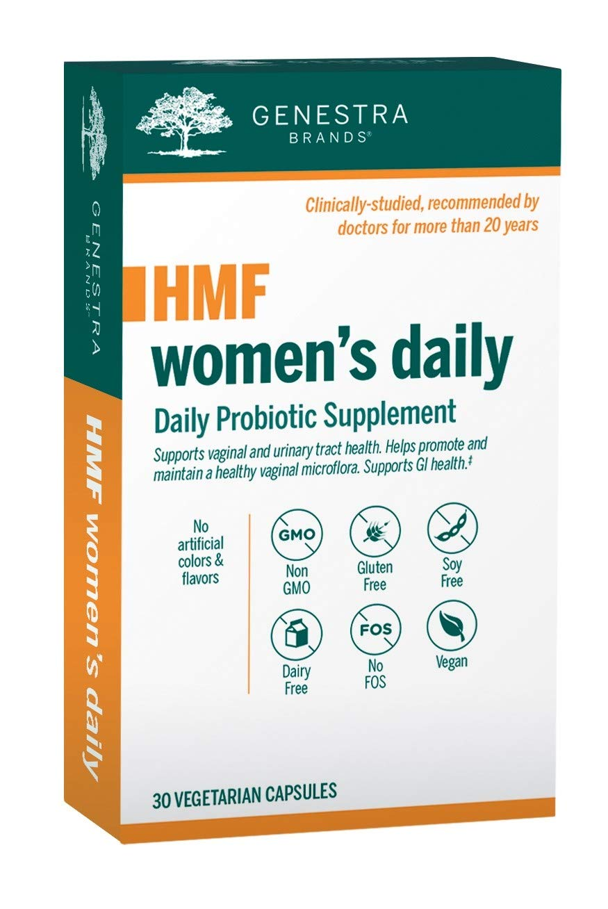 Genestra Brands - HMF Women's Daily - GI and Urinary Tract Health Support for Women* - 30 Vegetarian Capsules