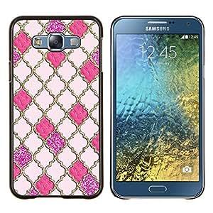 Eason Shop / Premium SLIM PC / Aliminium Casa Carcasa Funda Case Bandera Cover - Reticolo dell'oro Gates God Church Peach - For Samsung Galaxy E7 E700