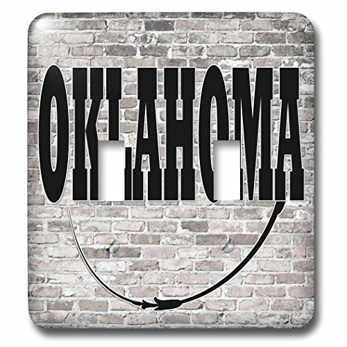 3dRose RinaPiro - US States - Oklahoma. State Capital is Oklahoma City. - Light Switch Covers - double toggle switch - Outlet Oklahoma City